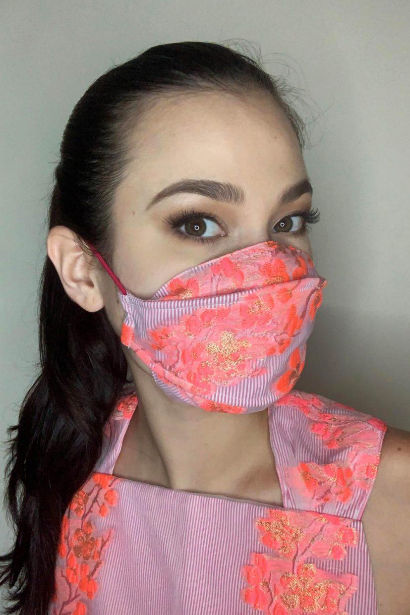 Organza Mask - Bubble Gum Pink