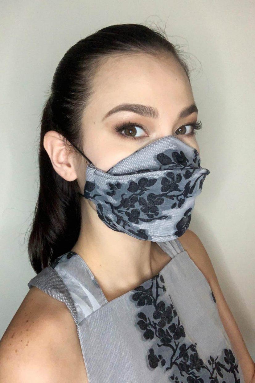 Organza Mask - Pebble Black