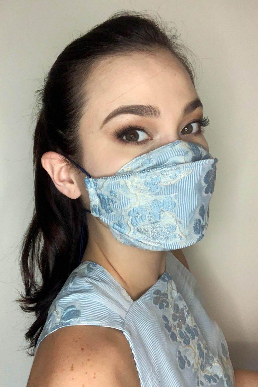 Organza Mask - Powder Blue