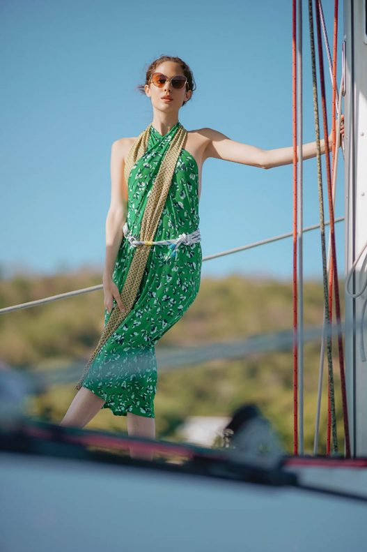 Ellis sarong dress and Marine rope belt